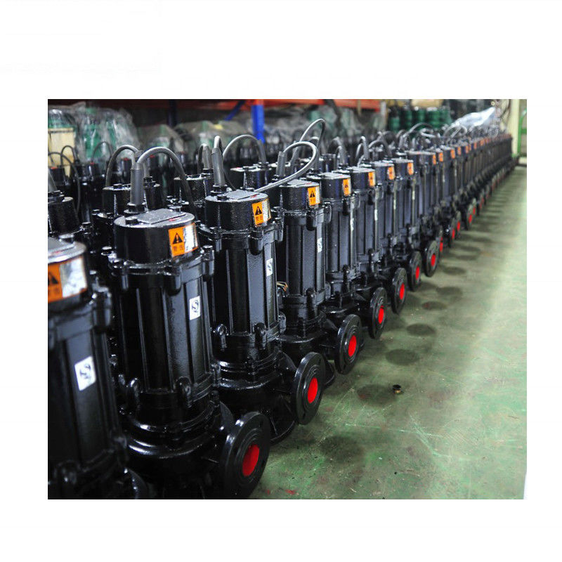 Vertical Inline Cast Iron Sewage Pump High Pressure Capacity 15m3/H Black